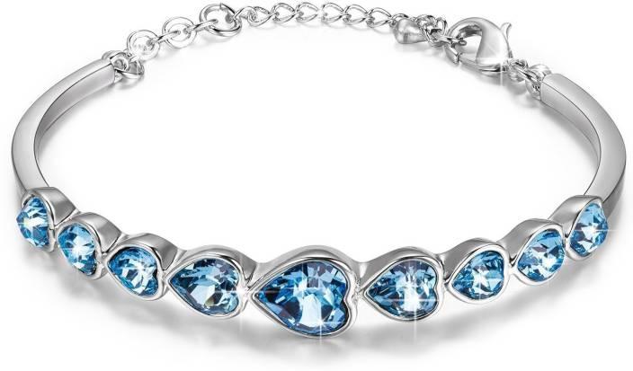 053c07815751 Yellow Chimes Metal Swarovski Crystal Rhodium Bracelet Price in India - Buy  Yellow Chimes Metal Swarovski Crystal Rhodium Bracelet Online at Best  Prices in ...