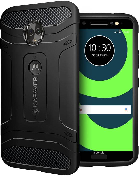 pretty nice 05bdc 0d06a Kapaver Back Cover for Motorola Moto G6 Plus