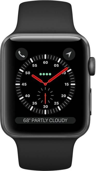 99f170e1fa0 Apple Watch Series 3 GPS + Cellular - 42 mm Space Grey Aluminium Case with  Sport Band (Black Strap Regular)