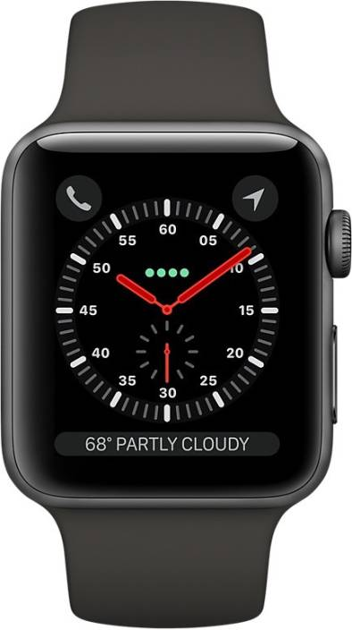 2434f8e92f3 Apple Watch Series 3 GPS + Cellular - 42 mm Space Grey Aluminium Case with  Sport Band (Black Strap Regular)