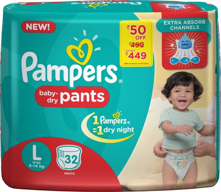 Pampers Pants Diapers - L