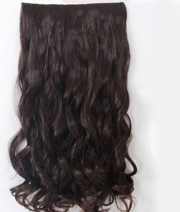 Abrish Clip in wavy natural brown Hair Extension