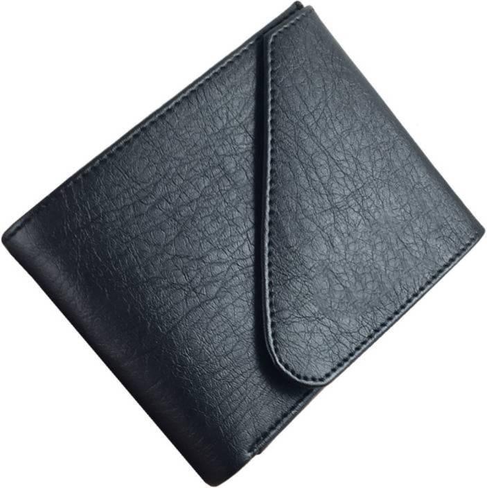 Quetzal Men Casual Black Genuine Leather Wallet