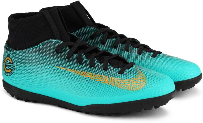 8c06ac38 Nike SUPERFLY 6 CLUB CR7 TF Football Shoes For Men - Buy CLEAR JADE ...