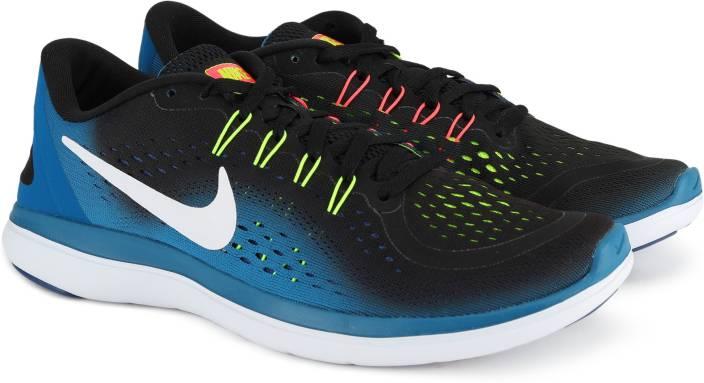 b9366fa06756 Nike NIKE FLEX 2017 RN Running Shoes For Men - Buy BLACK WHITE ...
