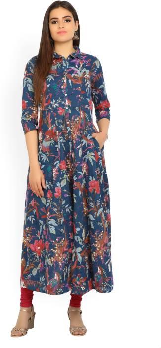 f149de34e509 Biba Women's Maxi Multicolor Dress - Buy NYBLU Biba Women's Maxi Multicolor  Dress Online at Best Prices in India   Flipkart.com