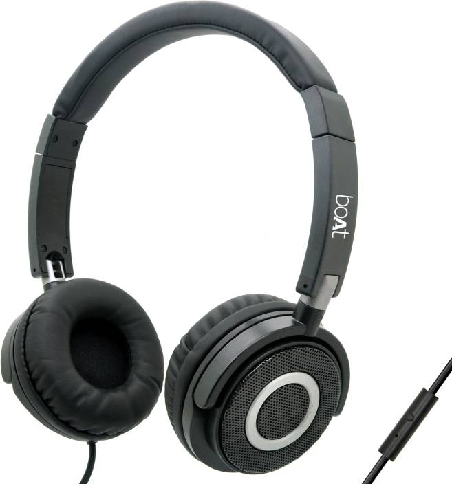 boAt BassHeads 900 Super Extra Bass Wired Headset with Mic (Carbon Black, Over the Ear)