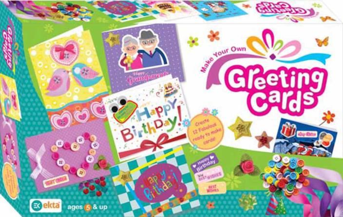 Ekta Make Your Own Greeting Cards Craft Kit For Kids Create 12