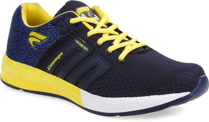 85c4db7d49f Champs Running Shoes For Men - Buy Navy Blue Yellow Color Champs ...