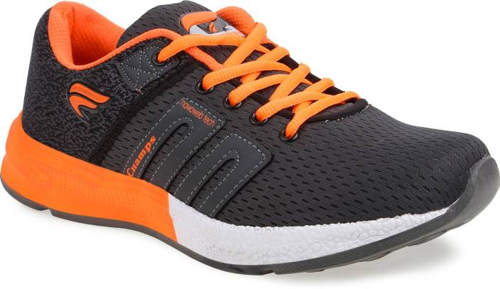 42169c3169bfd Champs Running Shoes For Men - Buy Dark Grey Orange Color Champs ...