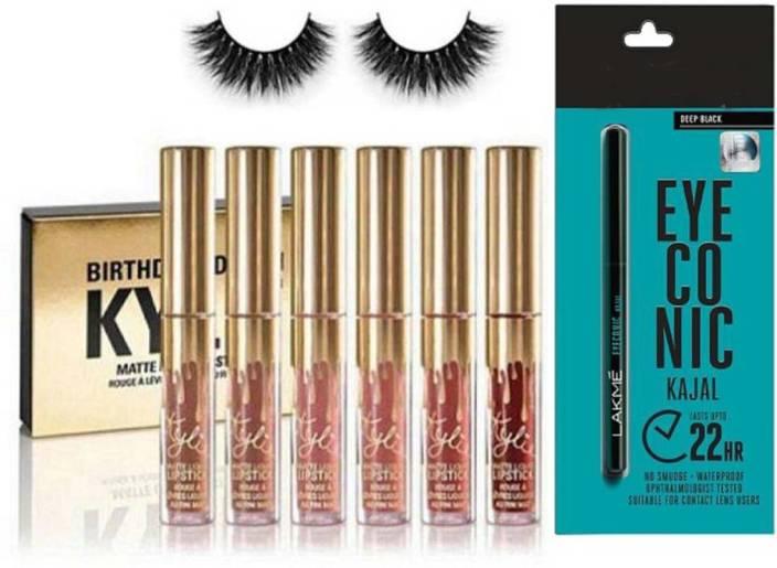 GLORIST Eyelashes, Kylie Birthday Edition Matte Liquid Lipstick Spf 15 9 (Set Of 6)