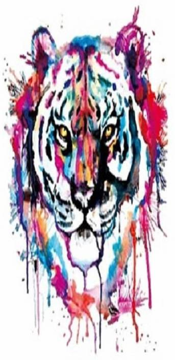b10303b87025 TOTAL HOME Tiny Colorful Tiger Dark Fabric Transfer paper Patches ...
