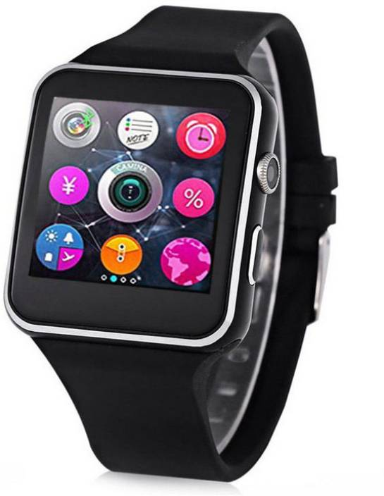 IBS X6 Bluetooth Smart Watch Sim Mobile Wristwatch for iPhone Android Phone  With Camera Video recorder Black Smartwatch