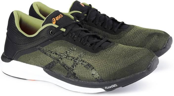 f1ed5089a3c6 Asics fuzeX Rush Running Shoes For Men - Buy ALOE BLACK WHITE Color ...