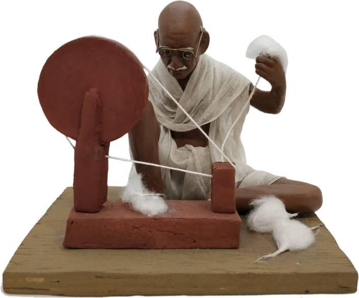 Papilon Terracotta Handmade Home Decorative Mahatma Gandhi Human