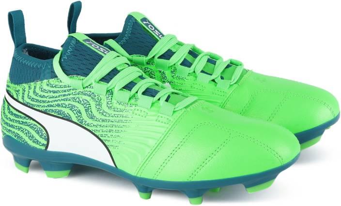 a79bd2a02d5 Puma ONE 18.3 FG Football Shoes For Men - Buy Green Gecko-Puma White ...