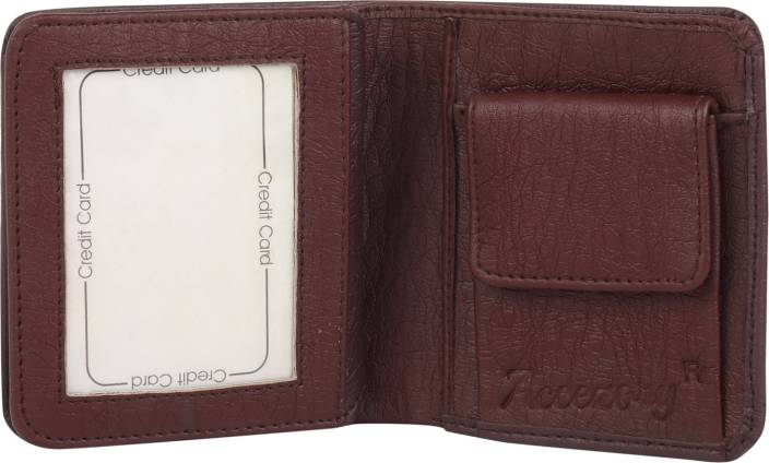 Accezory Men Formal Brown Artificial Leather Wallet