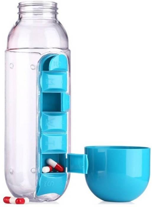 Benison India Multipurpose 2 in 1 Pill/Medicine Water Bottle