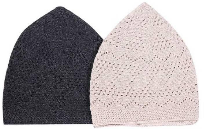 7723a81c12469 atabz stretchable Black White Namaz topi Cap - Buy atabz stretchable ...