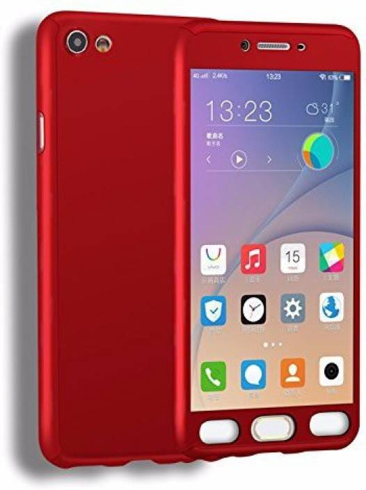 bc8d712b86 BrewingQ Front & Back Case for OPPO Neo 7 (Red, Dual Protection, Plastic)