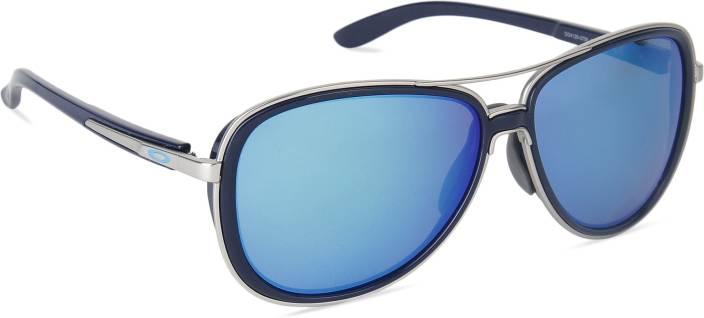 313c54a11 Buy Oakley SPLIT TIME Aviator Sunglass Blue For Women Online @ Best ...