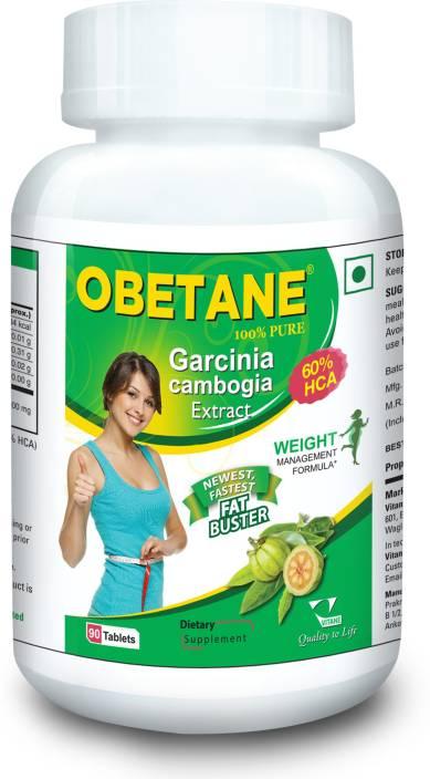 Vitane Obetane Fat Burner Garcinia Cambogia Tablets Natural Weight Loss Supplement