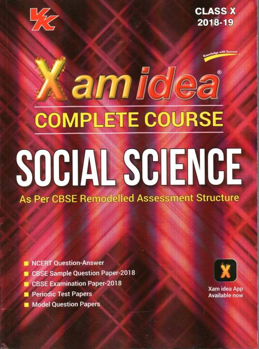 Xam Idea Complete course SOCIAL SCIENCE Class 10 -2018: Buy Xam Idea