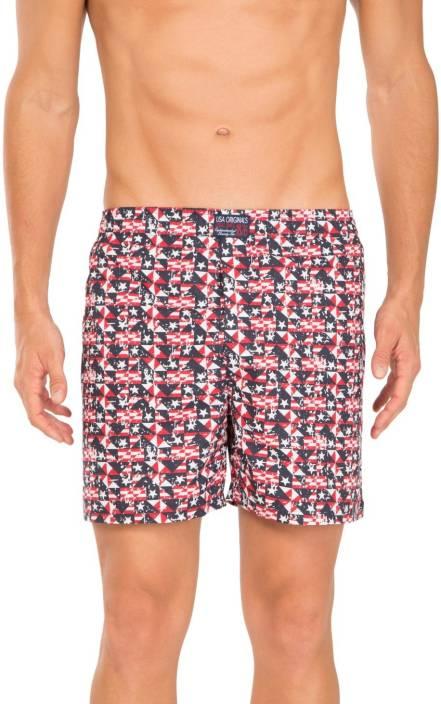 e57b7e4768 Jockey Printed Men Multicolor Beach Shorts - Buy White & Red Printed ...