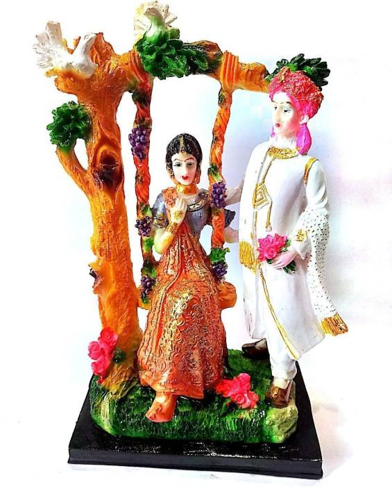 Krishnagallery1 Love Couple Statue Polystone Shinning Idolshow