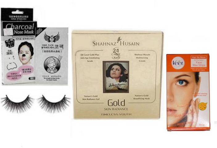 Royal combo Eyelashes, Shahnaz Husain Gold Facial Kit
