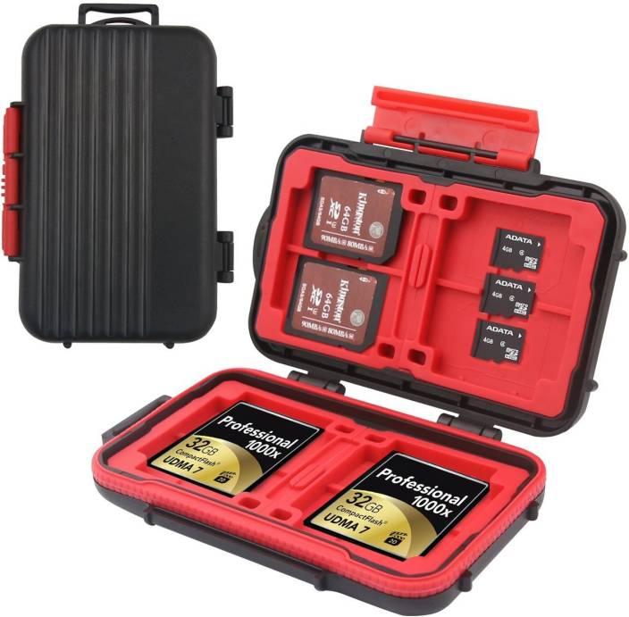 easyCover 24 Slots Memory Card Case,Sd Card Holder,Water-Resistant&Shockproof Holder Storage Memory Card Case for CF cards/MicroSD cards/SD card Camera Bag