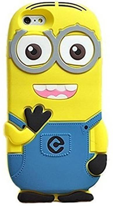 buy online f90bc cb6c6 Dream2Cool Back Cover for Funky 3D Cartoon Minion Soft Rubber ...