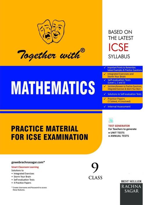 Together with ICSE Class 9 Mathematics Practice Material for session