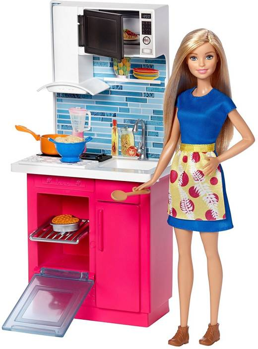 Barbie Kitchen Doll Kitchen Doll Buy Barbie Toys In India Shop
