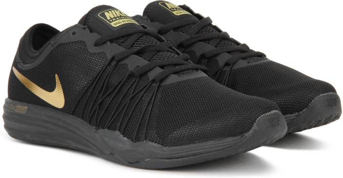 8d78d841b49d Nike DUAL FUSION TR HIT Training Shoes For Men - Buy BLACK GOLD ...