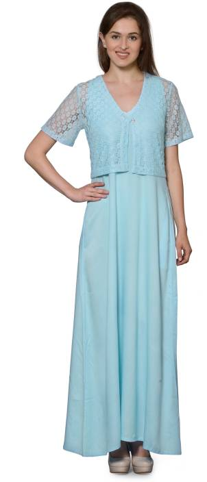 e2a07ae69c5fb Patrorna Women's Nighty with Robe - Buy Patrorna Women's Nighty with ...