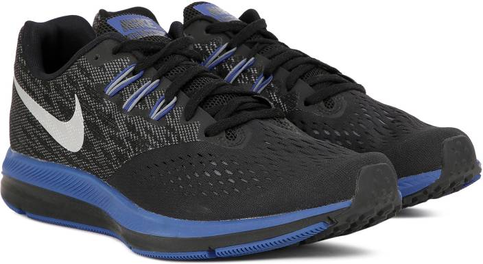 063a56f345a Nike ZOOM WINFLO 4 Running Shoes For Men - Buy BLACK METALLIC SILVER ...