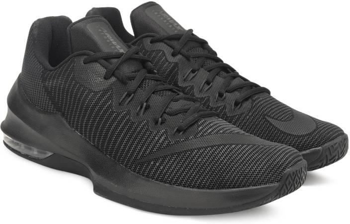 buy popular d2ca6 0b7dc Nike AIR MAX INFURIATE 2 LOW Basketball Shoes For Men (Black)