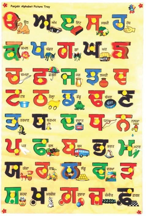 Alphabet Images skillofun punjabi alphabet picture tray price in india - buy