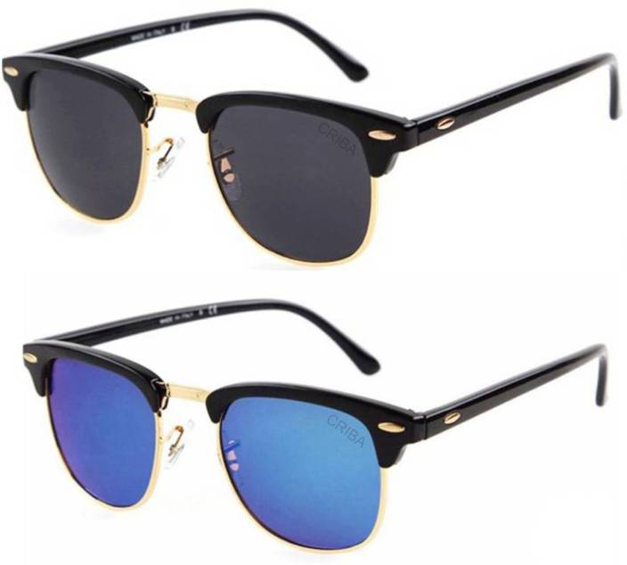 3c58f537db Buy Criba Clubmaster Sunglasses Black