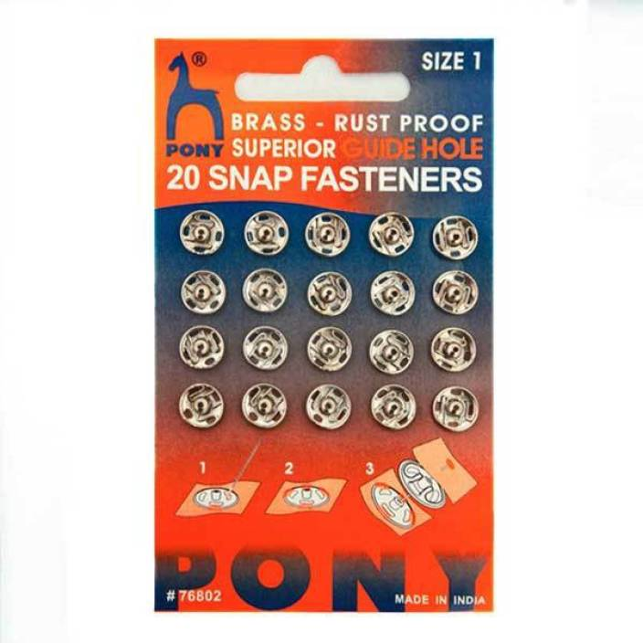 Pony Tich Buttons (Snap Fasteners) - Rust Proof Superior Guide Hole