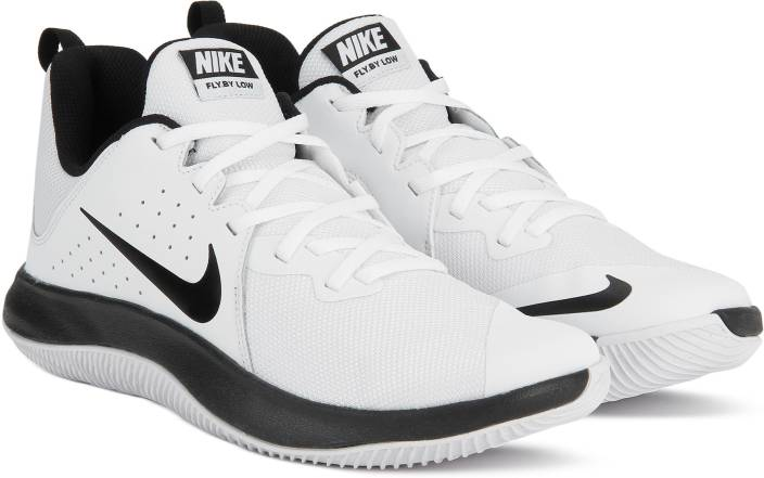 Nike FLY.BY LOW Basketball Shoes For Men - Buy WHITE BLACK-PURE ... 5fe9bd9620cee