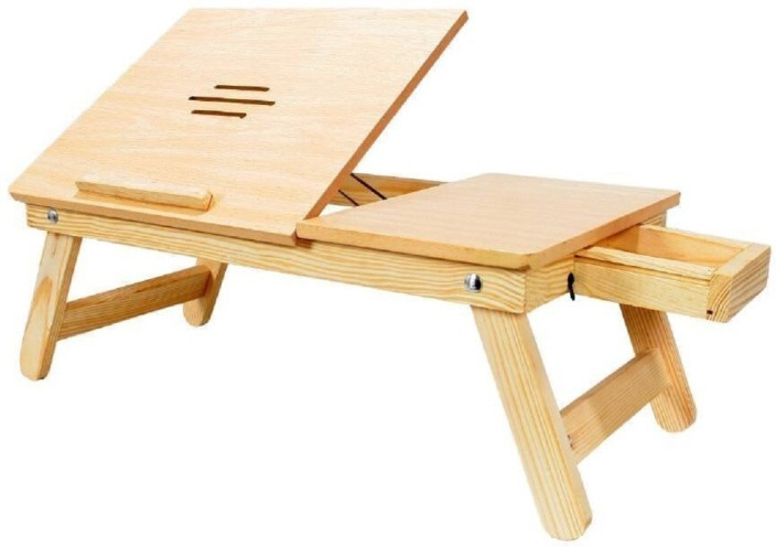 Emeret Laptop Table Drawer Wooden High Quality Multipurpose Table For  Laptop/ Study / Reading /