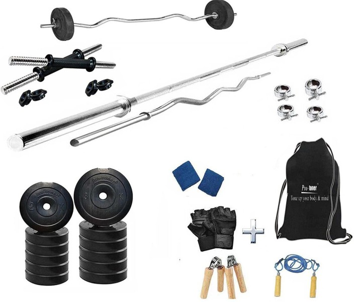 Protoner kg pvc home gym set with rods home gym combo price in