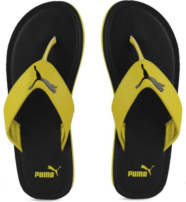 73d9ef196 Puma Flash Cat IDP Slippers - Buy Puma Black-Citronelle Color Puma Flash  Cat IDP Slippers Online at Best Price - Shop Online for Footwears in India  ...