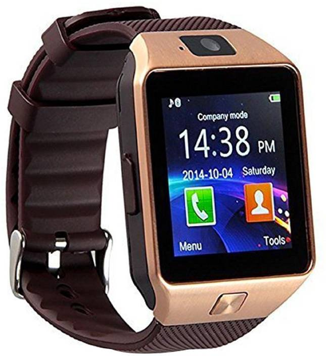 celebrino DZ09 Bluetooth Smart Watch Touch Screen with Camera, SIM Card  TF/SD Card Slot, Pedometer Activity Tracker for iphone android phones Gold