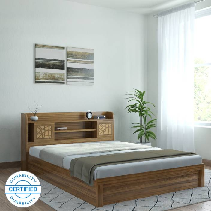 Spacewood Engineered Wood King Box Bed Price in India - Buy ...