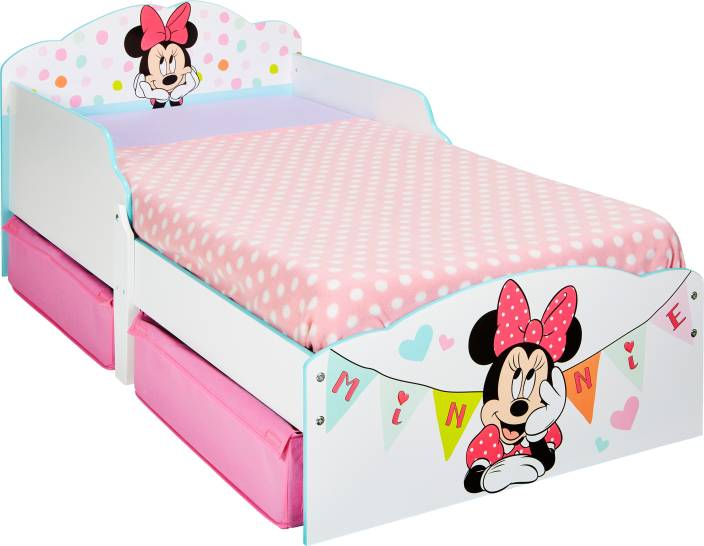 Disney Minnie Mouse Toddler Engineered Wood Single Box Bed Price In