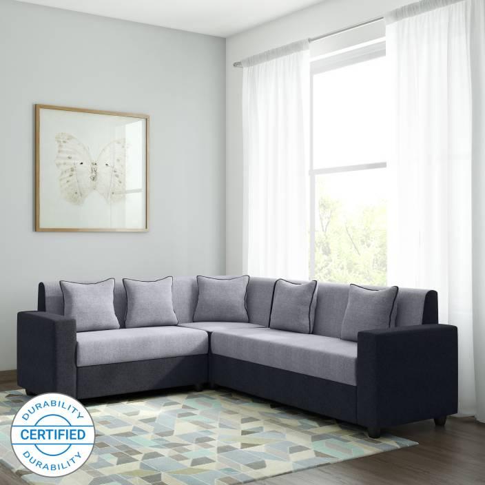 Bharat Lifestyle Cosmo Plus Fabric 6 Seater Sofa