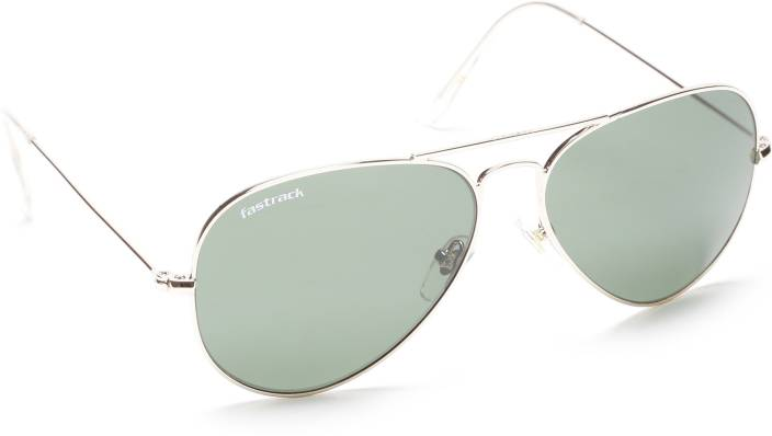 7cc26f3f14 Buy Fastrack Aviator Sunglasses Green For Men Online   Best Prices ...